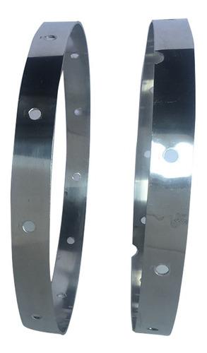 aro de aluminio reglam. p/ tambor de banda de guerra (1par)