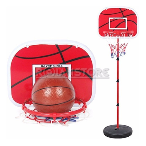 aro de basket pedestal + red