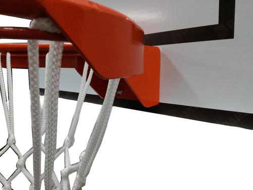 aro de basket reglamentario con tablero y pelota
