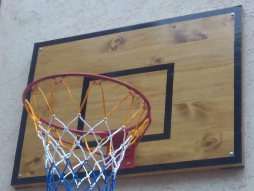 aro de basquet de hierro macizo con tablero artesanal