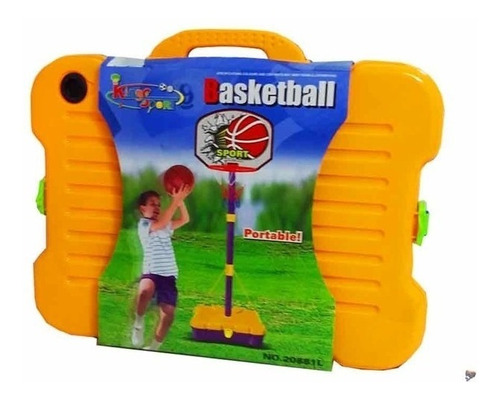 aro de basquet infantil portable en valija regulable 1.62 m