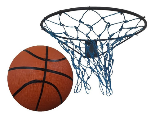 aro de basquete + rede + bola nº 7