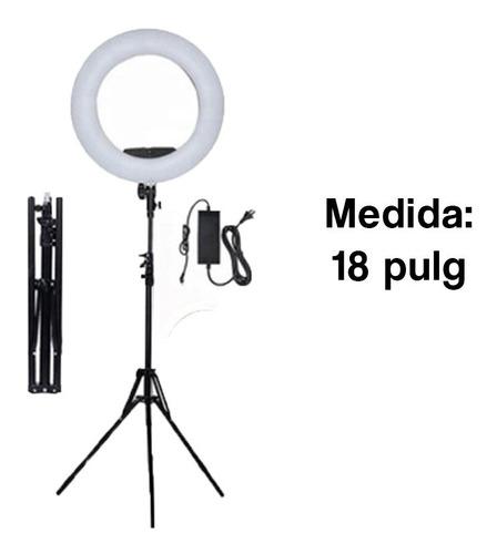 aro de luz de 18 pulgadas con maletin, maquillaje y fotograf