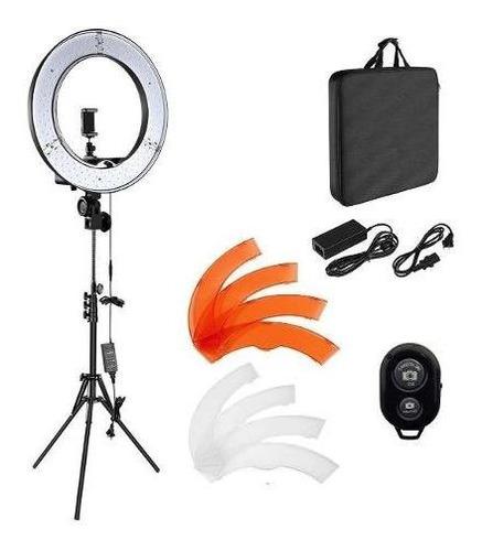 aro de luz fotografico profesional 18 pulgadas tripode bolso