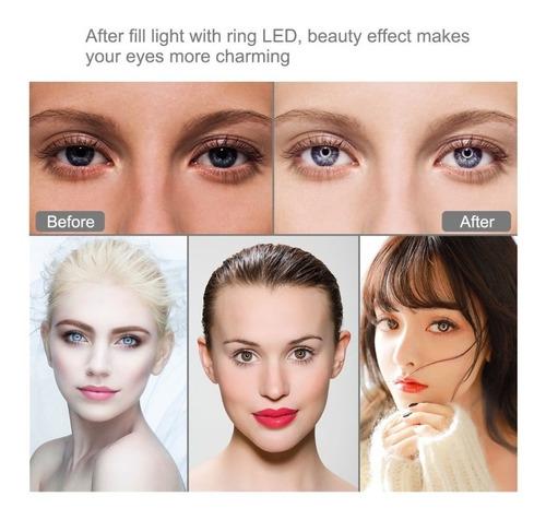 aro de luz led 10 pulgadas c/soporte para cel foto video