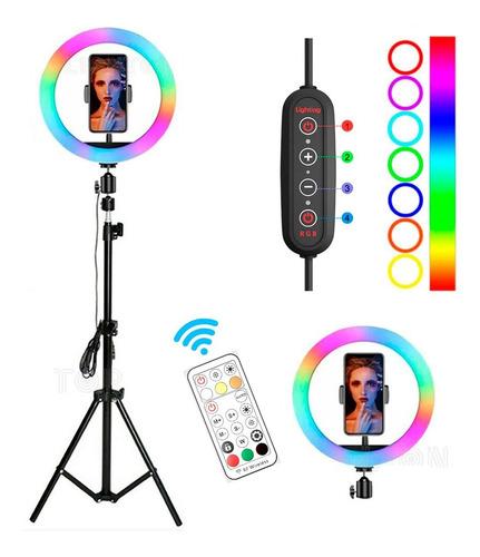 aro de luz led 30cm + soporte para celular  + trípode 2.10 m