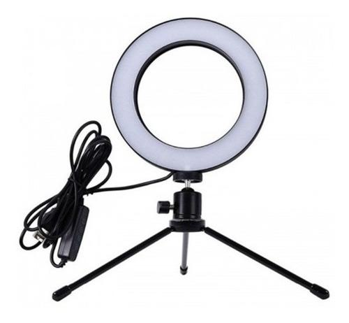 aro de luz led 35 cm tripie celular foto video maquillaje