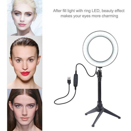 aro de luz led 6.2 pulgadas + tripie foto vídeo maquillaje