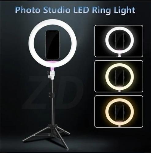 aro de luz led con trípode de 10 y 12 pulgadas