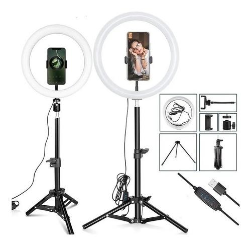aro de luz led foto regulable led 26 cm soporte tiktok
