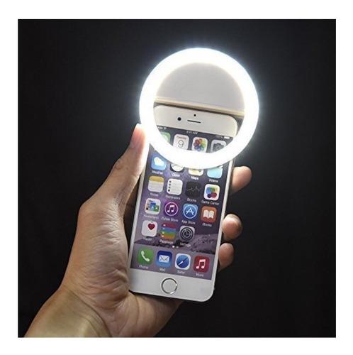 aro  de luz led para celular selfie recargable
