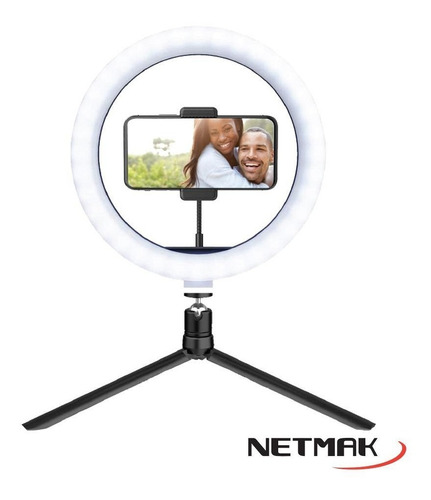 aro de luz led usb con trípode - 10  - netmak nm-rl1