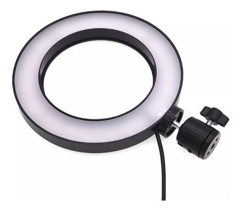 aro de luz led usb portátil 6 pulgadas video foto maquillaje