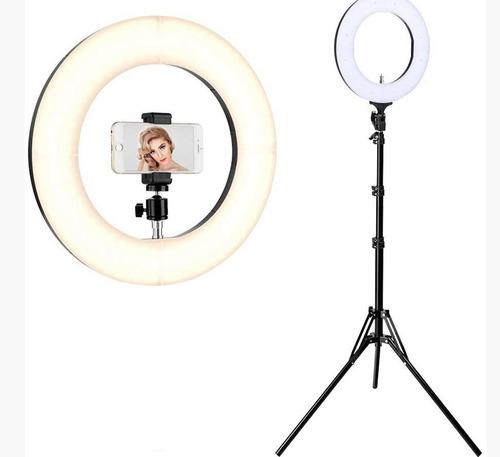 aro de luz para blogger 10¨ control 3 tonos de luz + trípode