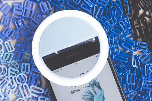 aro de luz para celular recargable , selfie ring light