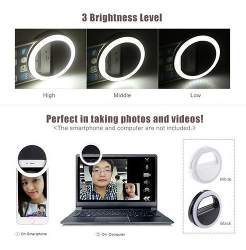 aro de luz portátil para celular selfie ring light