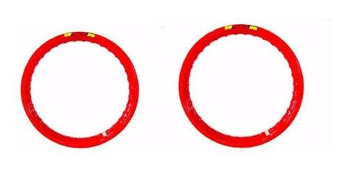 aro de moto aluminio vermelho titan fan 125 / 150 ybr factor