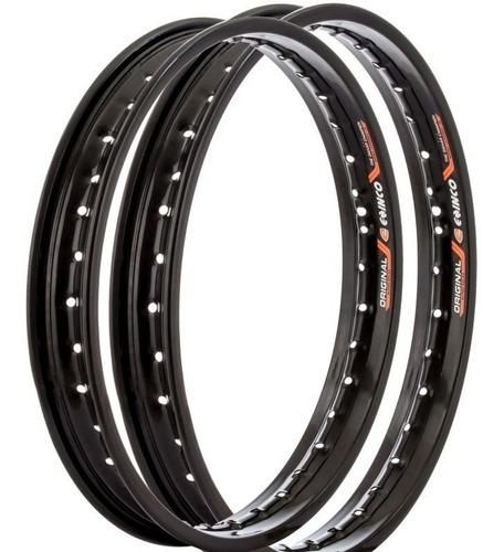 aro de roda aço honda bros 125 / 150 (par) - preto - eninco
