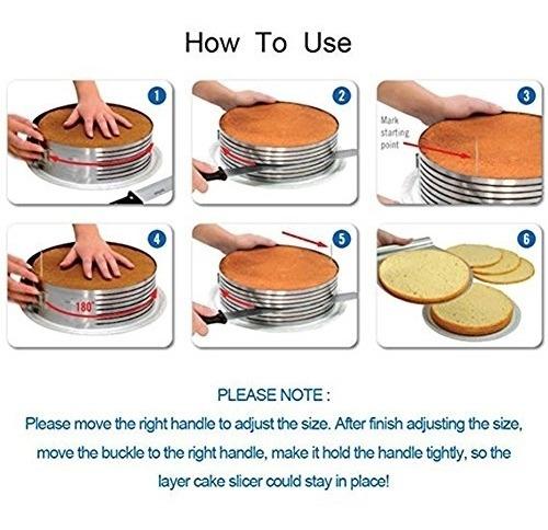aro fatiador molde para corta bolo regulável profissional