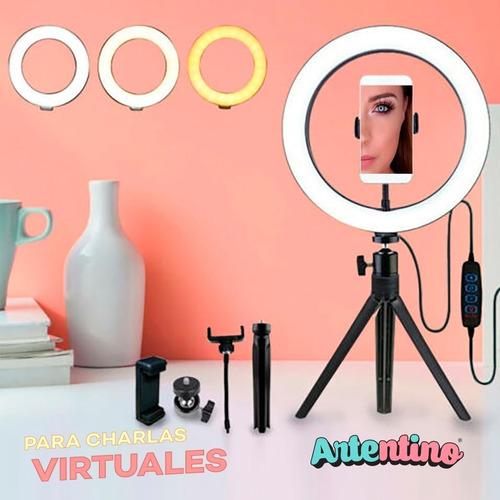 aro led ring luz celular tripode maquillaje foto video pro