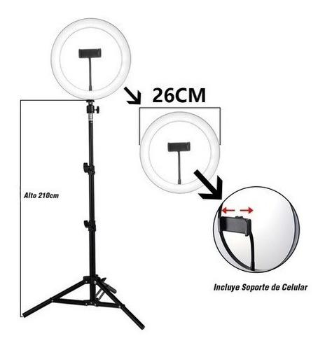aro luz de 26 cm + trípode profesional transmisión youtuber