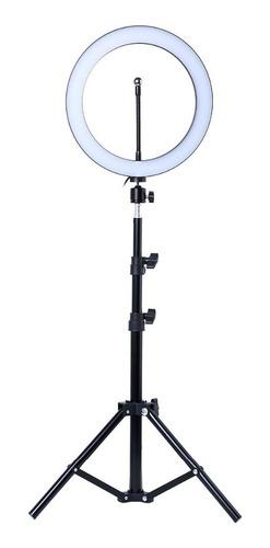 aro luz led 26 cm para  fotografía 3 tipos de luz + tripode