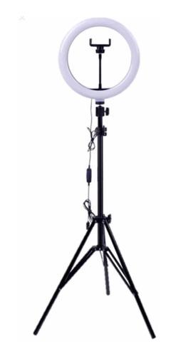 aro luz led 35cm,trípode ajustable 2mts, 3 tipos luz!