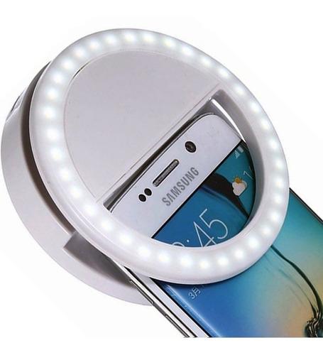 aro luz led selfie celular tablet linterna anillo fotos pc