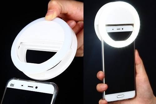 aro luz led selfie iphone samsung flash android +regalo