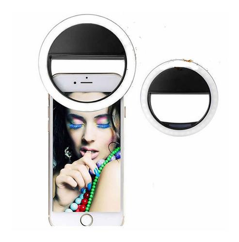 aro luz led selfie ring celular light video fotos smartphone