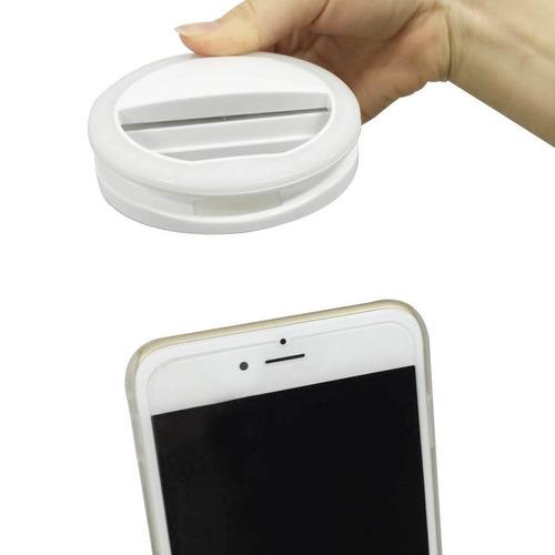 aro luz selfie d8 iluminacion iphone android - blanco
