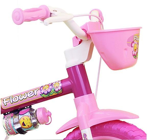 d1833a6f8 Bicicleta Criança De 3 A 5 Anos Aro 12 Menina Flower Nathor - R  159 ...