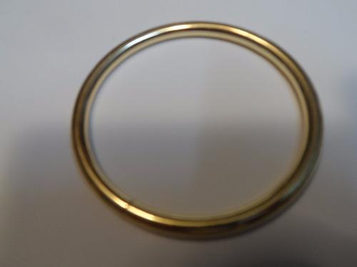 aro o argolla 50 mm o 5 cms dorada calibre grueso