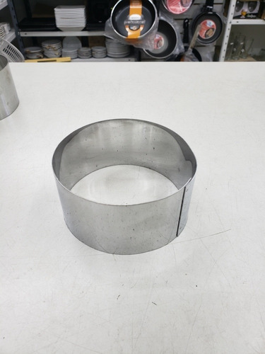 aro o cortante timbal redondo acero inoxidable 10x3 cm