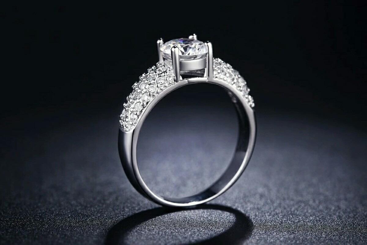 61d6905a427f aro oro blanco 18k amor aniversario mujer elegante amistad. Cargando zoom.