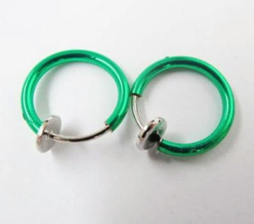 aro piercing  clip falso 1 unidad colores fashion