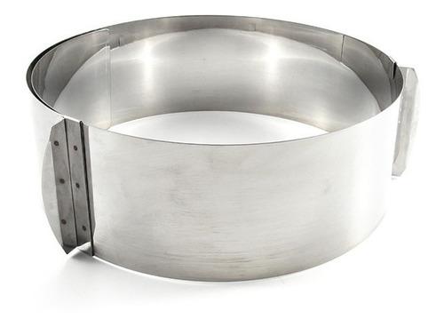 aro regulável redondo regulavel para bolo em inox