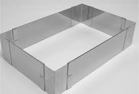 aro regulável retangular regulavel para bolo em inox