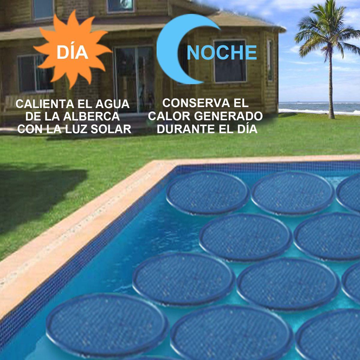 Aro solar calentador agua alberca cubierta caldera bomba en mercado libre - Calentadores solares para piscinas ...