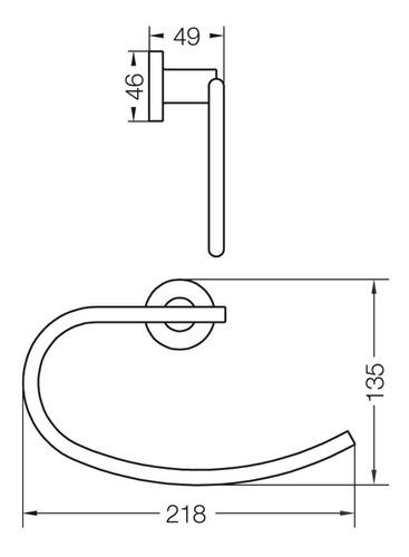 aro toallero fv libby accesorio baño metálico cromo