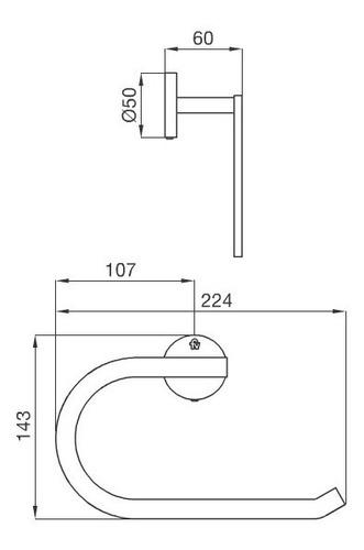 aro toallero fv nebraska triades metalico 162/c3 ahora 12 y 18