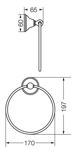 aro toallero fv newport metálico accesorio 162/b2
