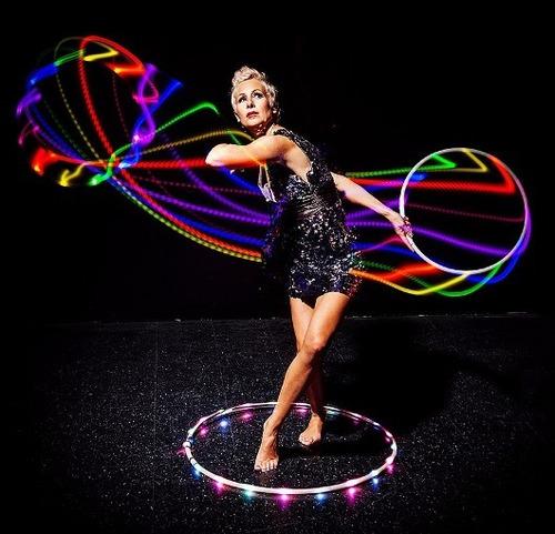 aro ula ula led luz 80cm colores hula hoop espectaculo