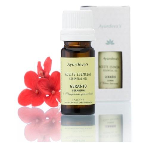 aromaterapia aceites esenciales puros naturales geranio