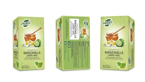 aromatica jaibel plus manzanilla limon y miel x 20 unidades