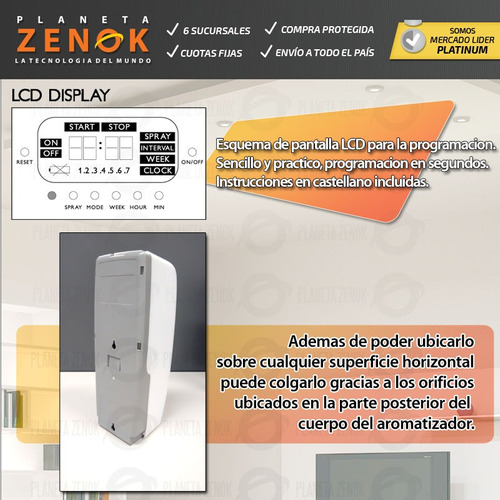 aromatizador digital automatico - difusor ambiental a pilas