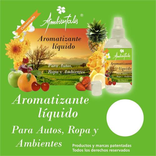 aromatizante liquido para autos, ropa y ambiente ambientalis