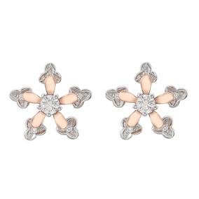 fa970eb67d88 Aros 2 En 1 Desmontables Oro Blanco Rosa Diamantes Brillante