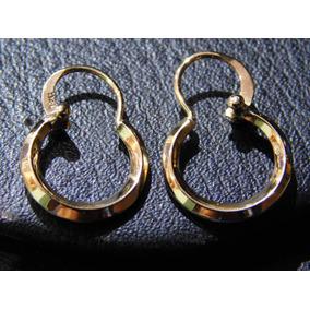 45be9c075432 Par De Aros Lisos Oro 18 Kilates Medida 15 Mm. Peso 1.1 Gr - Joyas y  Relojes en Mercado Libre Argentina