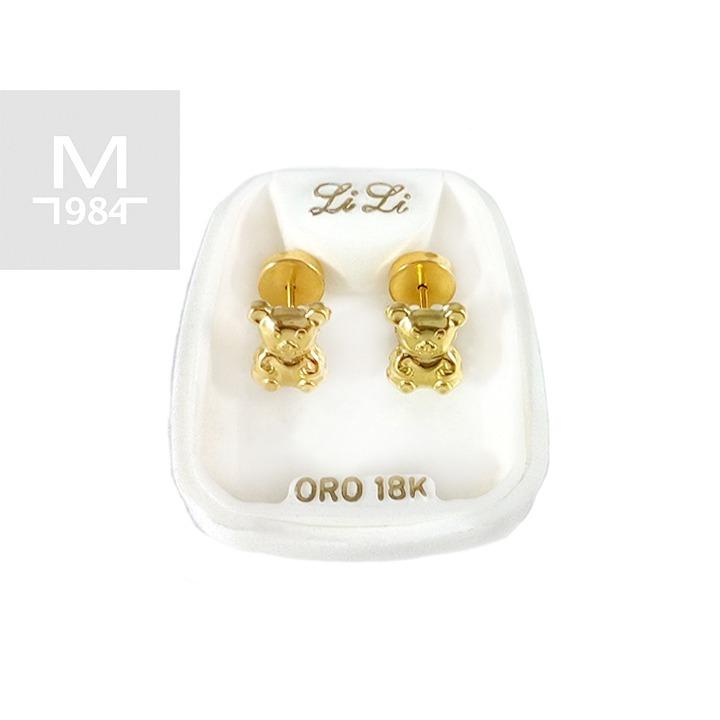 8d4600c4bd55 Aros Abridores De Oro 18 Kilates Con Figuras De Ositos -   3.800